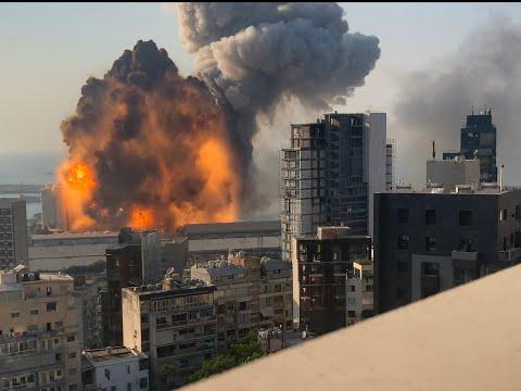 Взрыв в Бейруте в HD качестве