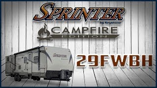 10. 2019 Keystone Sprinter Campfire Edition 29FWBH 5th Wheel For Sale