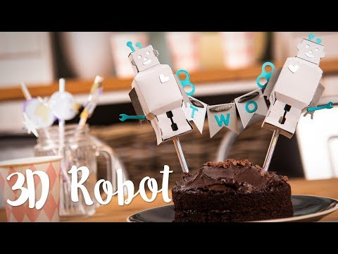 How to Make 3D Robot Cake Topper - Sizzix