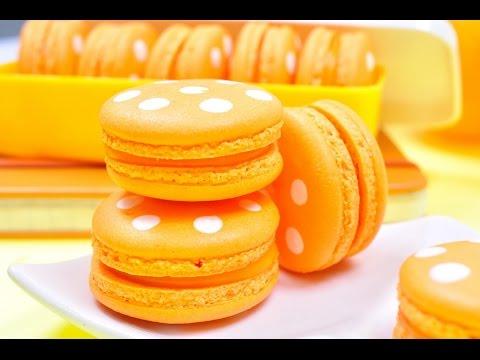 FoodTravelTVChannel - มาการองลายจุด Polka Dot Macaron - มาการองสีส้ม มาการองสีส้มถูกเติมความน่ารักสดใสด้วยลายจุดสีขาว...