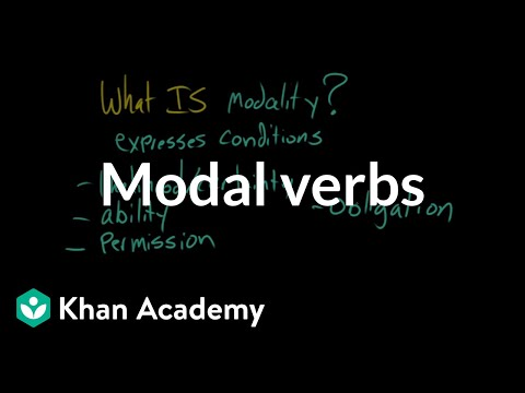 Modal verbs (video) | Khan Academy