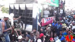"Dominica Carnival: February, 16 2015. ""Se' Lavi Nou""- It's Our Life. IRep767 present, 2015 Jouvert Morning in Roseau Dominca."