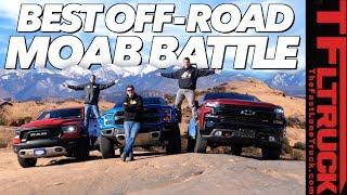 Three New Trucks - One Epic Off-Road Comparison: 2019 Ford Raptor vs Chevy Trailboss vs Ram Rebel by The Fast Lane Truck