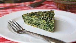 Spinach&Leek Torta Di Riso -- Savory Italian Rice And Vegetable Pie