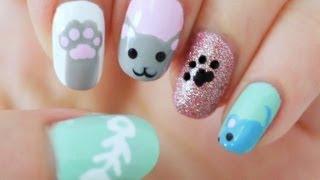 Kitty Cat Nails - YouTube