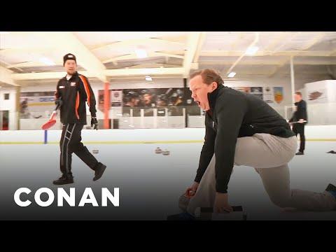 Andy hraje curling