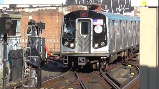 Due to long term construction until April 2018, there will be no M trains runnin' between Myrtle Avenue-Broadway and Middle Village-Metropolitan AvenueM trains will operate between Forest Hills-71 and Myrtle Avenue-Broadway, then rerouted via the J line to Broadway Junction. M train service will now run all day from 5AM until 11PM with no late night service. This is Phase I of the Myrtle Avenue Line reconstruction project which will last until September 1Here's the R160A M train in action at Myrtle Avenue-Broadway durin' the weekday rush hour service!Shuttle buses will be provided to replace the loss of M train service at the followin' stations:-Flushing Av J/M/Z Station-Myrtle Av/Broadway J/M/Z Station-Myrtle/Wyckoff Avs L StationFOLLOW ME: Google: http://plus.google.com/+BwayLineEntTwitter: http://twitter.com/BwayLine7795Facebook: http://FB.me/BLETransitInstagram: http://Instagram.com/reggakabwaylineThankx for watchin' and stay tuned for the latest uploads