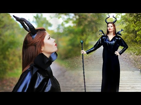 DIY MALEFICENT COSTUME - ANGELINA JOLIE