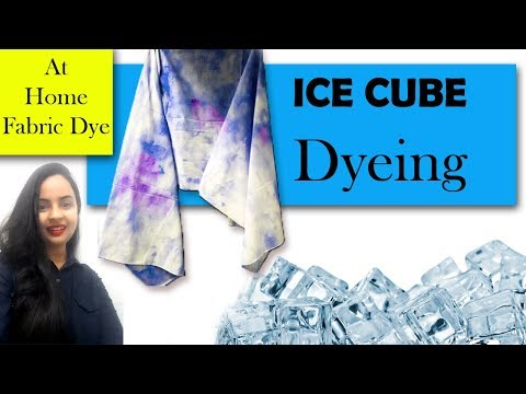 Ice Dyeing at Home| Easy & Fun way to dye your fabrics|In Hindi| English subtitles