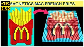 ASMR | Making McDonald's French fries with 1500 Magnetic balls | Top 10 Magnetics