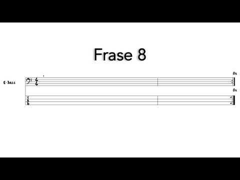 Frases cortas - Frase 8 - Sacar nota por nota - Bajo eléctrico