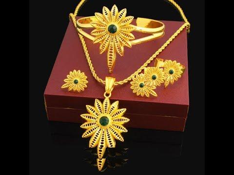 Latest Ethiopian Necklace Pendant Jewelry Designs || Trendy Ethiopian Gold Jewelry