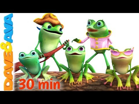 🎯  Five Little Speckled Frogs | Nursery Rhymes Collection from Dave and Ava 🎯
