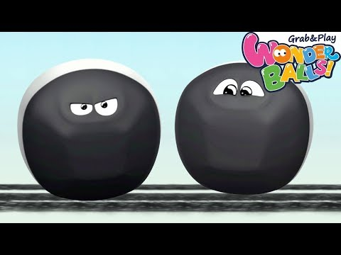 Colors With Running Squishy Balls Vs Funny WonderBalls | Squishy Balls Coloring Video for Kids