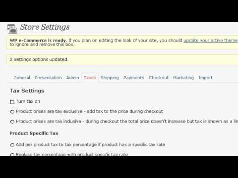 Installing and Setting up WP-eCommerce WordPress Plugin – Pt: 1