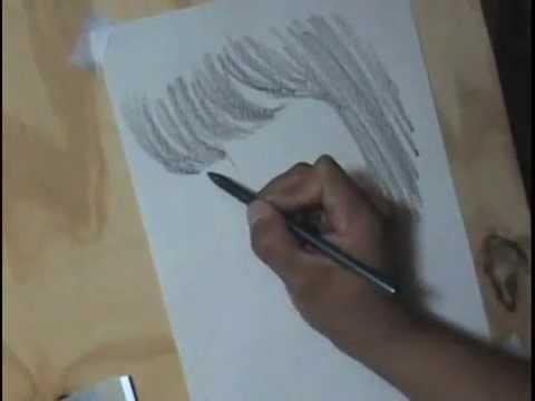 Retrato a lápiz de una chica bonita.
