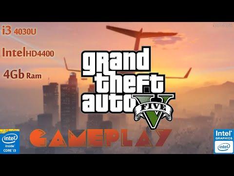GTA V Gameplay With i3 4030U / Intel HD 4400 /4gb