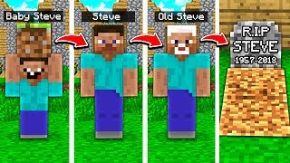 STEVES LIFE IN MINECRAFT! (FROM BIRTH TO DEATH)