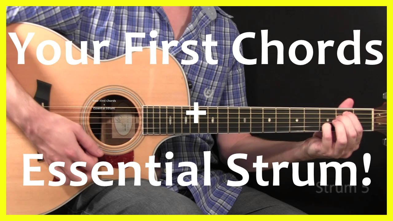 Guitar Lessons – Your First Chords And Strum