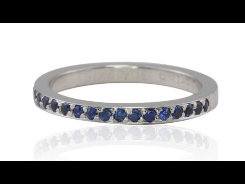 September Birthstone Ring Pave-set with Genuine Blue Sapphires LS1331