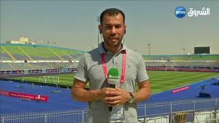 حمدي شجيع ..برصد اجواء داخل م داخل ملعب القاهرة #الخضر و سينيغال