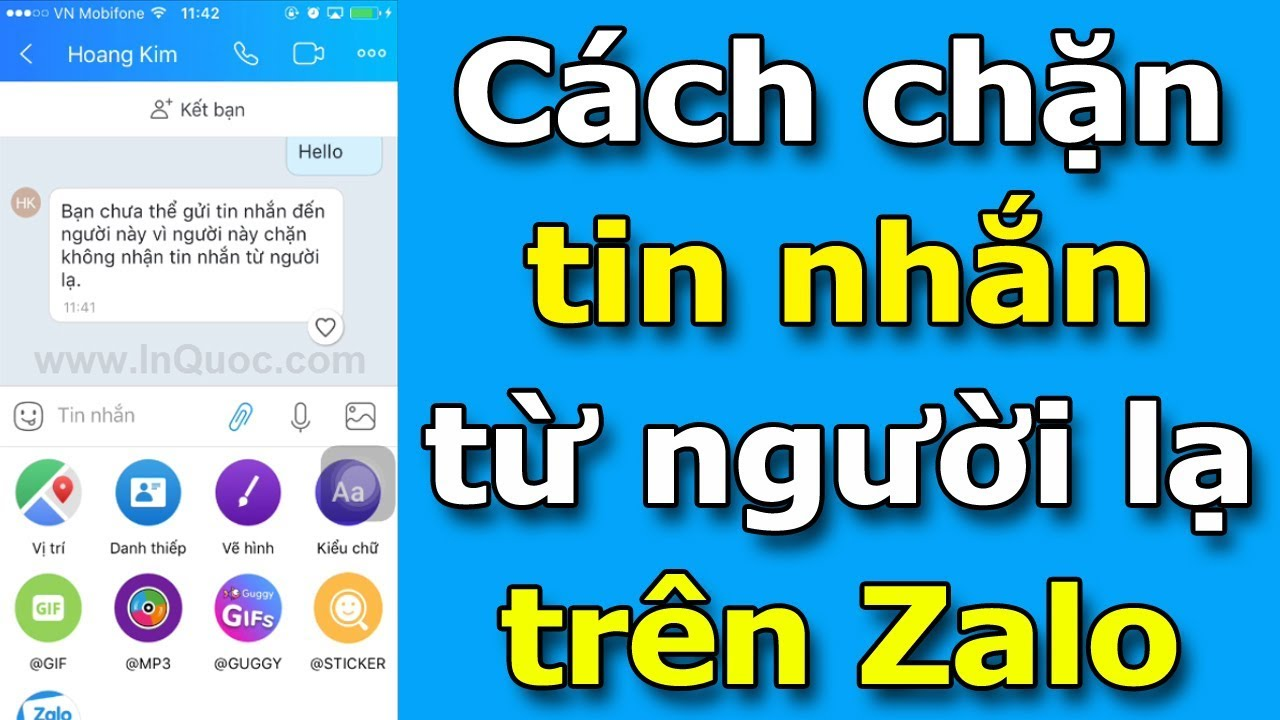 Cách chặn tin nhắn từ người lạ trên Zalo mới nhất