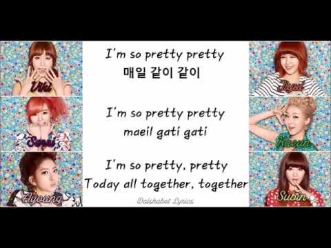 Dalshabet (달샤벳) - Just Stop / Stop As - Member/Colour Coded Lyrics (Han/Rom/Eng)