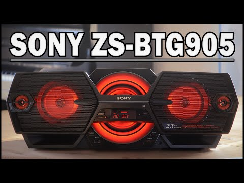 SONY ZS-BTG905 Bluetooth-Boombox - REVIEW (Deutsch) | ENGLISH SUBTITLES