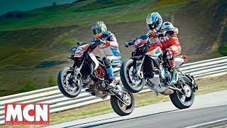 3. MV Agusta Rivale 800 vs Ducati Hypermotard SP | Versus Test | Motorcyclenews.com
