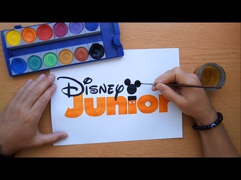 How To Draw An Orange Disney Junior Logo (coloring Pages, Coloring Book)