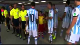 After Messi simulate that he found the kid whose hand he forgot to shake