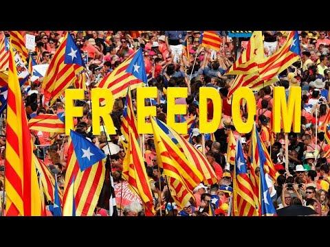 Καταλονία: Ογκώδης διαδήλωσης υπέρ της ανεξαρτησίας
