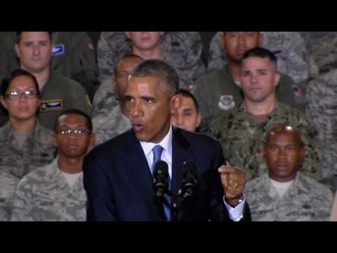 will - President Obama addresses U.S. troops, saying he will not put American boots on the ground in the fight against ISIS. More from CNN at http://www.cnn.com/ To license this and other CNN/HLN...