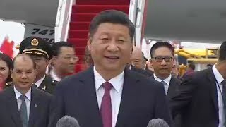 Chinese President Xi Jinping said Hong Kong has always been in his heart, in a speech made upon his arrival at Hong Kong International Airport on Thursday.