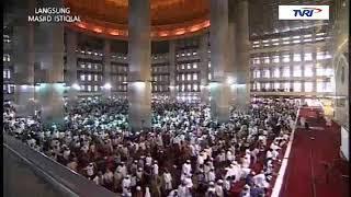 Video MERDU !!! Bacaan Imam Masjidil Haram Syaikh Khalid Al Ghamdi  Mengimami Sholat Jum'at di Istiqlal MP3, 3GP, MP4, WEBM, AVI, FLV Agustus 2018