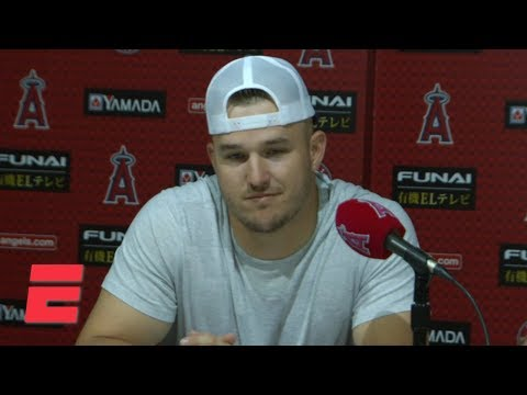 Video: Mike Trout on honoring Tyler Skaggs with Angels' no-hitter: You can't make this up   MLB on ESPN
