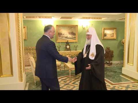 Президент Республики Молдова провел встречу со Святейшим Патриархом Московским и всея Руси