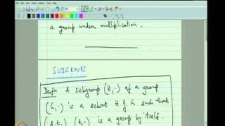 Mod-02 Lec-04 Subgroups And Equivalence Relations