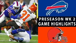 Bills vs. Browns Highlights | NFL 2018 Preseason Week 2 by NFL