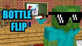 Video Monster School : BOTTLE FLIP CHALLENGE - Minecraft Animation MP3, 3GP, MP4, WEBM, AVI, FLV Juli 2018