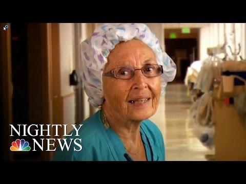 Inspiring America: Meet America's Oldest Working Nurse | NBC Nightly News