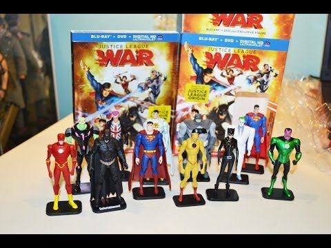 Justice League WAR movie Blu-ray DVD Best Buy Exclusive w/ FIGURE & DC COLLECTION! unboxing