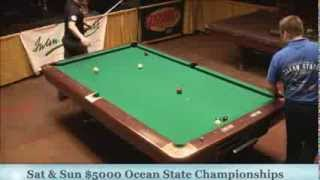 Jason Shaw Mike Dechaine 25th Annual Ocean State 9 Ball Finals Set 1