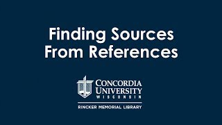 Finding Resources From References