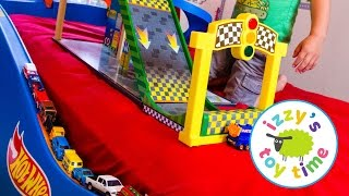 Hot Wheels Cars for Kids   Hot Wheels Bed with Fast Lane and KidKraft! Fun Videos for Children