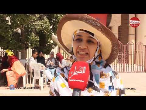 شاهد..وقفة الإساتدة المتعاقدين بمدينة العيون