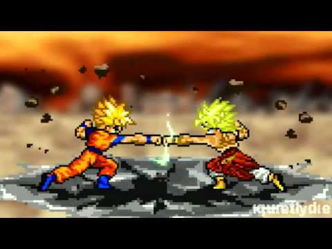 Goku vs Broly Part 1 (Reupload)
