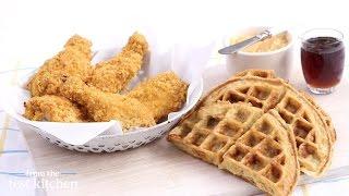 Chicken Recipe: http://www.marthastewart.com/342382/oven-fried-chicken ?xsc=soc_ytfoodmsmscKC77 Waffle Recipe:http://www.marthastewart.com/341273/buttermilk-...