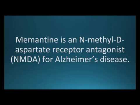 How to pronounce memantine (Namenda) (Memorizing Pharmacology Flashcard)