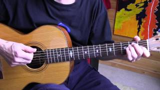 Fingerpicking Blues Lesson - The Sky Is Crying - Part 1 - TAB